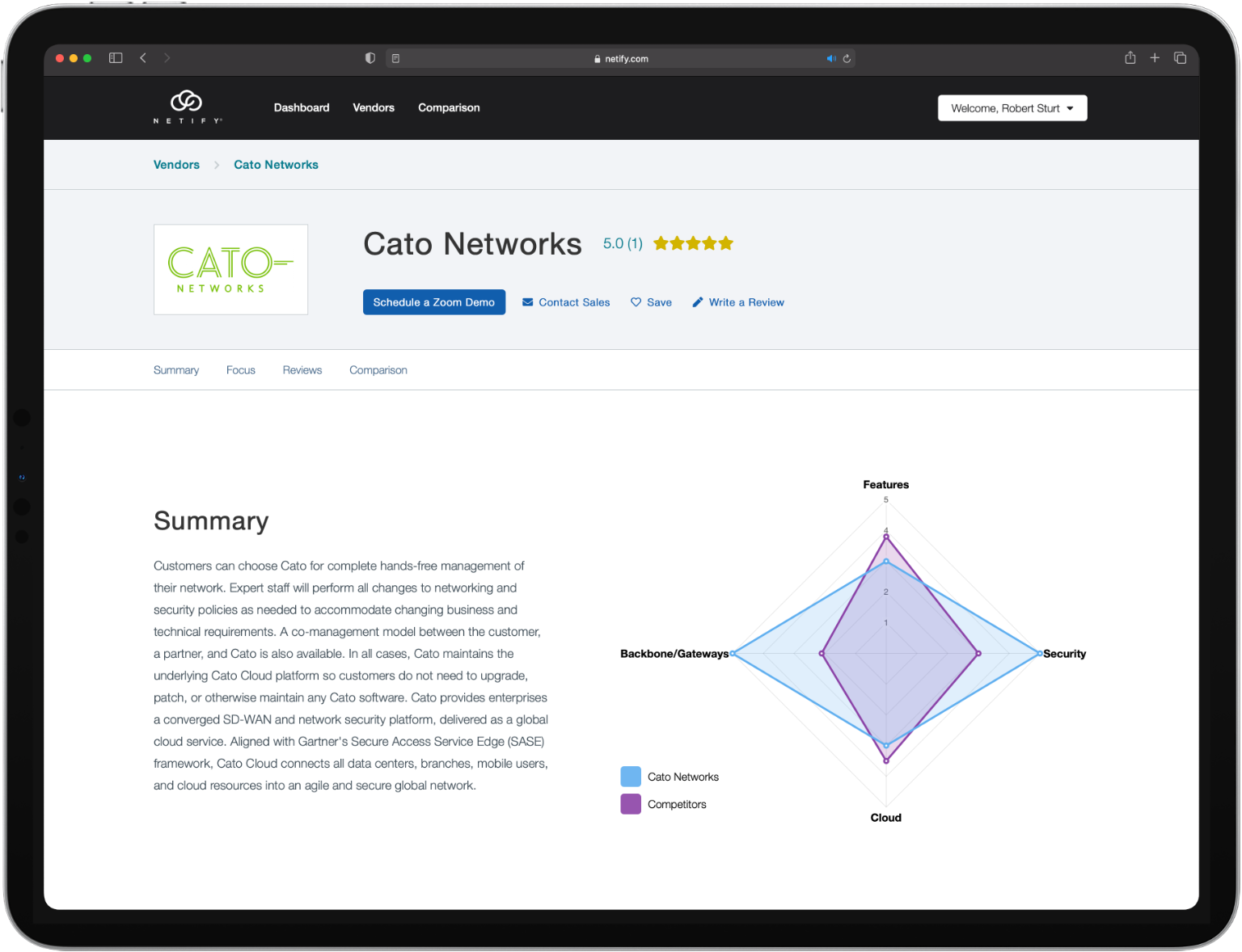 Netify marketplace home page vendor 2